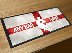 St Georges Flag Rugby bar runner mat
