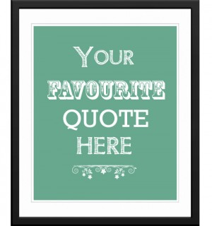 Personalised words / quote art poster print or canvas