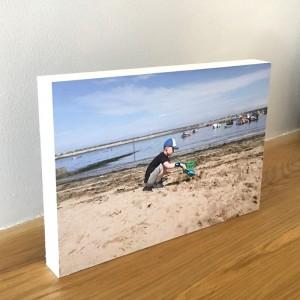 Personalised wooden Photo block