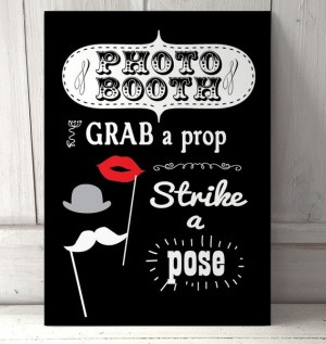 Photo Booth wedding metal sign