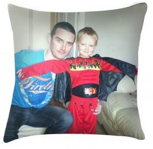 Photo personalised cushion