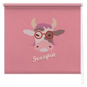 Personalised Pink Farmyard Cow blind