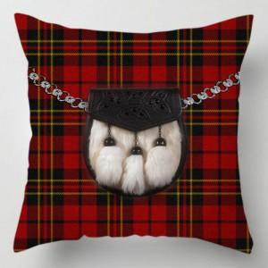 Red Tartan Sporran cushion