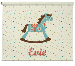Personalised Rocking Horse blind