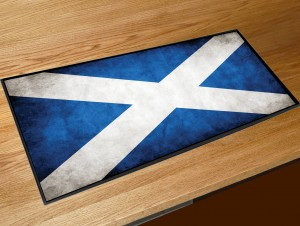Scotland flag bar runner