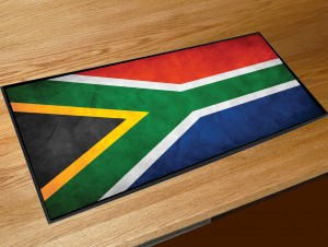South African flag bar runner mat