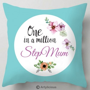 Step Mum one in a million cushion