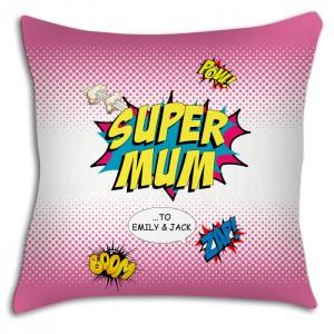 Supermum personalised cushion