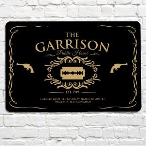 The Garrison public house sign