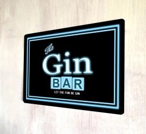 The Gin bar neon metal sign
