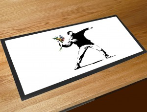Banksy flower thrower bar runner