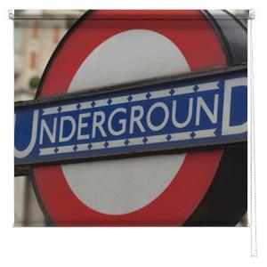 London Underground printed blind