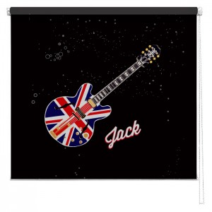 Union jack guitar sized personalised printed blind