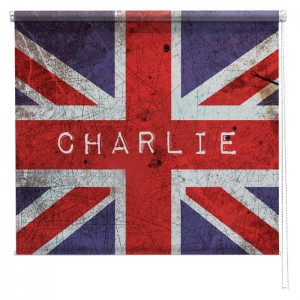 Personalised union jack printed blind