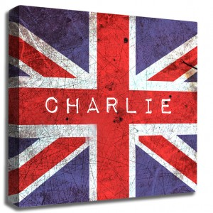Personalised Union Jack canvas art