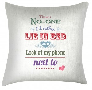 Valentine quote cushion