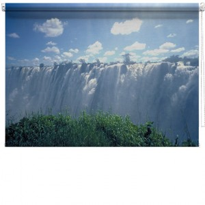 Victoria Falls Africa printed blind