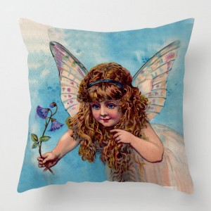 Vintage Fairy cushion