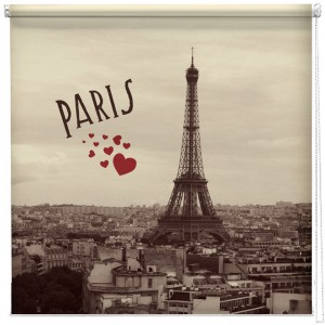 Vintage Paris postcard printed blind