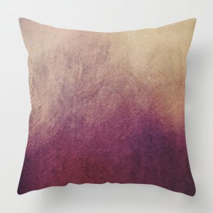 Watercolour pink print cushion