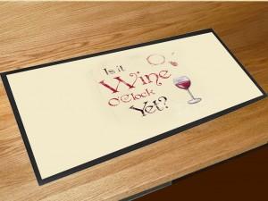 Wine O'clock bar runner