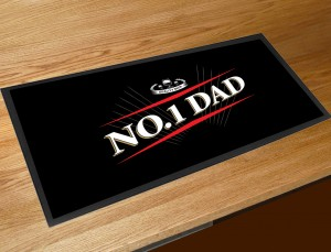 No 1 Dad beer label bar runner