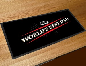 Worlds best Dad beer label bar runner