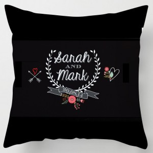 Personalised wedding chalkboard style cushion