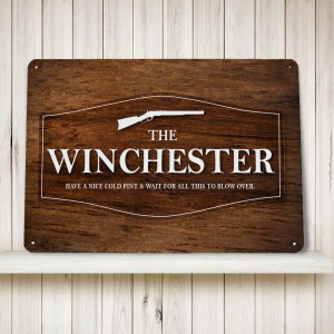 The WInchester pub metal sign