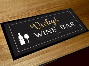 Personalised Wine Bar runner bar mat
