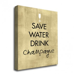 Drink Champagne canvas art print