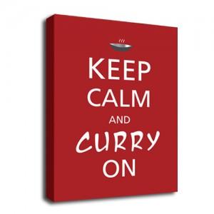 Keep Calm Curry on canvas art