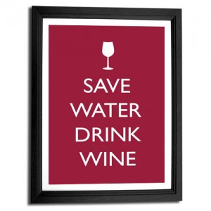 Save water drink wine canvas art