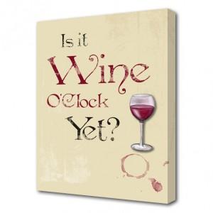 Wine O'Clock canvas art print
