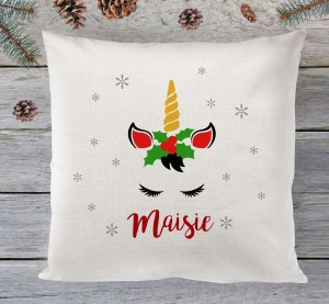 Christmas Unicorn cushion