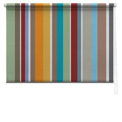 Abstract stripes printed blinds
