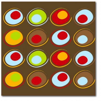 Retro eyes Abstract Canvas Art