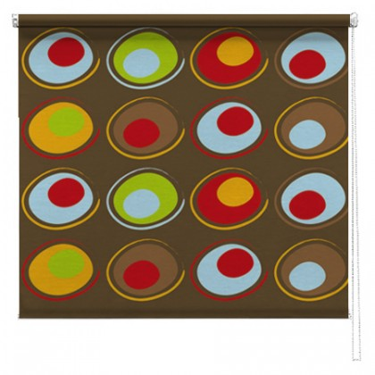 Abstract circles printed roller blind