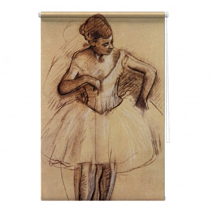 Ballet Dancer Edgar Degas printed blind