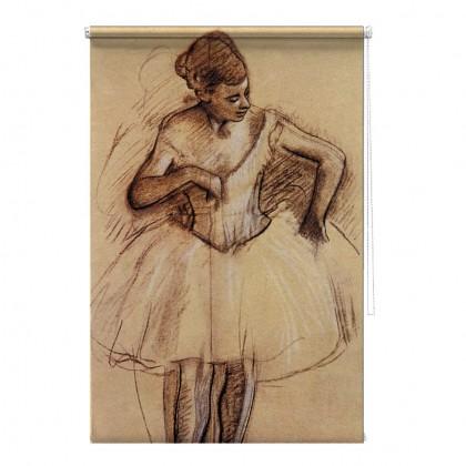 Ballet Dancer Edgar Degas printed blind