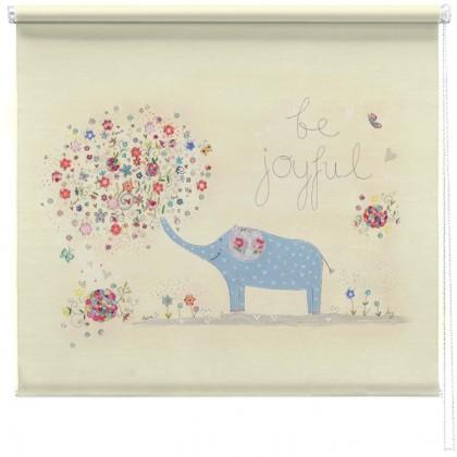 Joyful elephant printed blind
