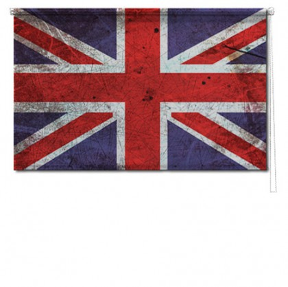 Union Jack printed roller blind
