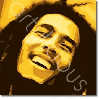 Bob Marley printed blind