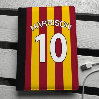 Bradford City football colours personalised ipad mini case