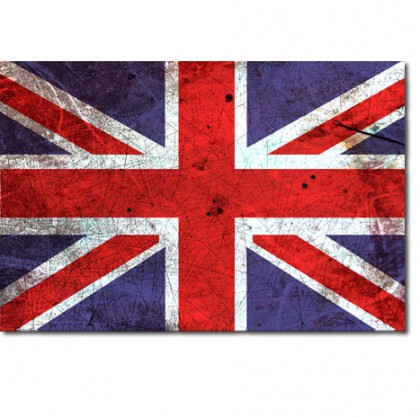 Union Jack Abstract Canvas Art