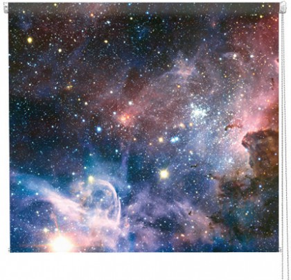 Carina Nebula galaxy printed blind