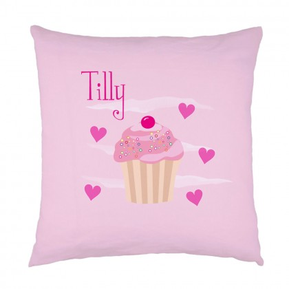 Personalised Cupcake childrens cushion