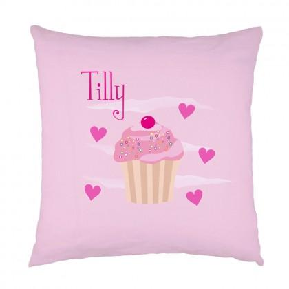 Personalised Cupcake childrens cushion