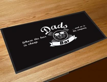 Dads bar vintage style pub runner mat