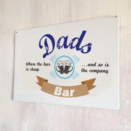 Dads bar vintage metal sign